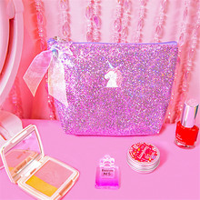 Wholesale Custom Beautiful Embroidered Sequin Cosmetic Bag Women Makeup Bag