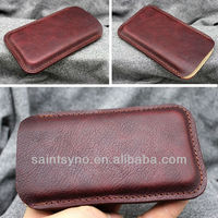 13017 Charm genuine leather mobile phone flip case