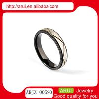Large Stock stainless steel jewelry gold black rings without stones wholesale ring