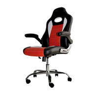 Sport seat office chair with headrest leather racing car seat style office chair