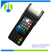 Hot-selling android handheld pos device with receipt printer and 2D barcode scanner 4 inch touch screen pos ---Gc062