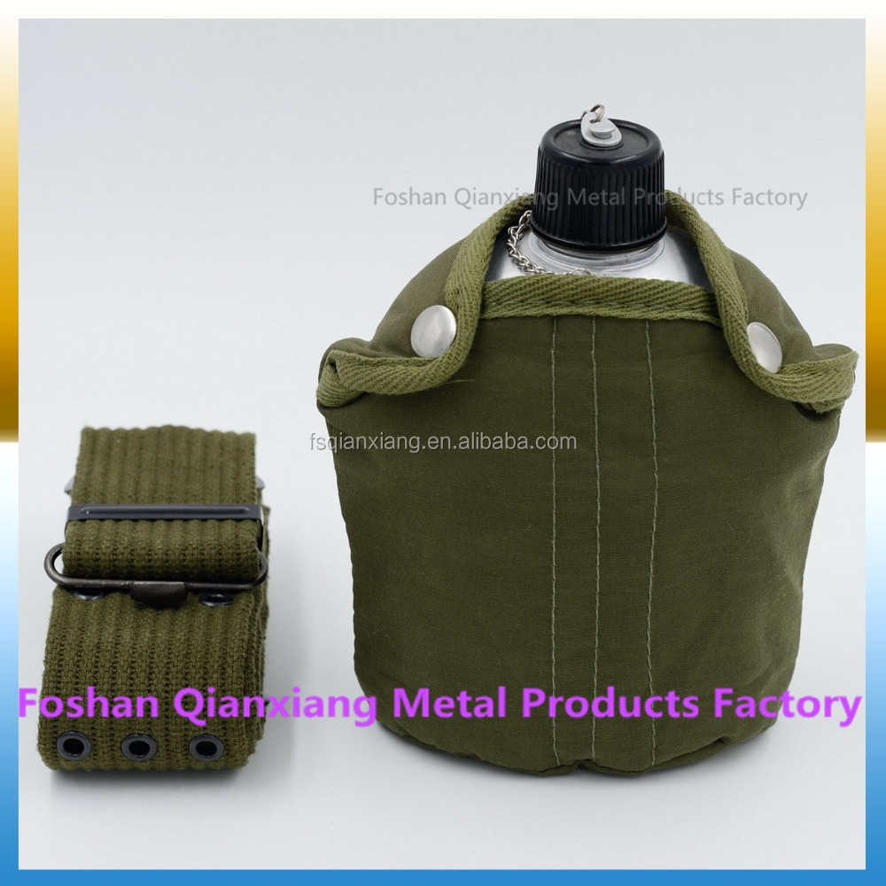 Wholesale aluminum water bottle oliven green military canteen