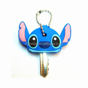 Personalized soft pvc rubber silicon car key covers/key cap