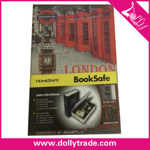 Metal Decorative Book Style Safety Deposit Boxes Protect Money