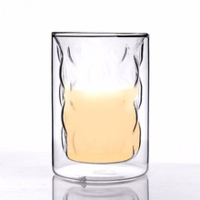 Hot selling double wall borosilicate glass cup/mug for beer/milk/coffee/wine 250ml