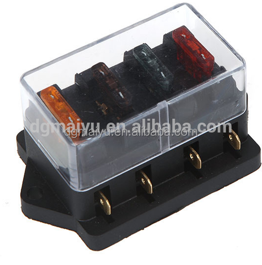 Auto Car Bus 4 way Fuse Box Holder with Blade Fuse ATC