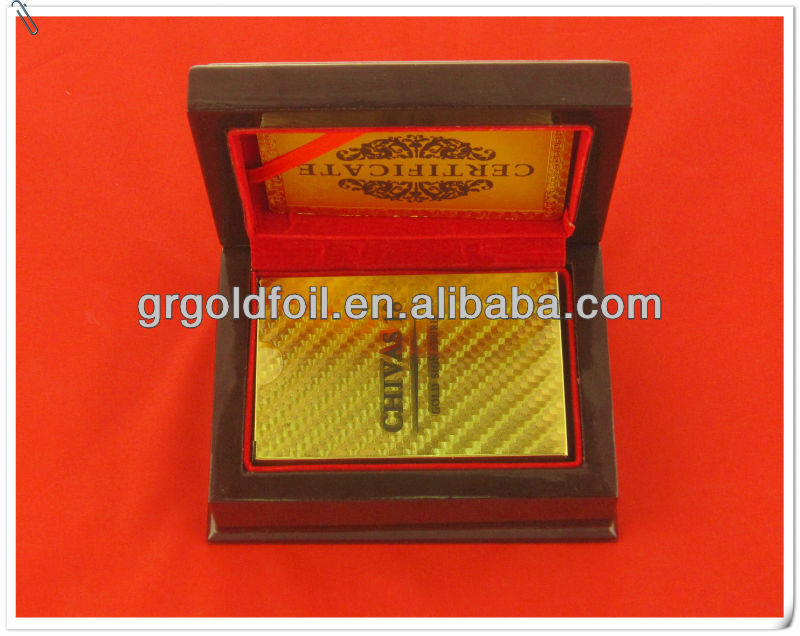 24 Chivas Regal carat solid gold playing cards