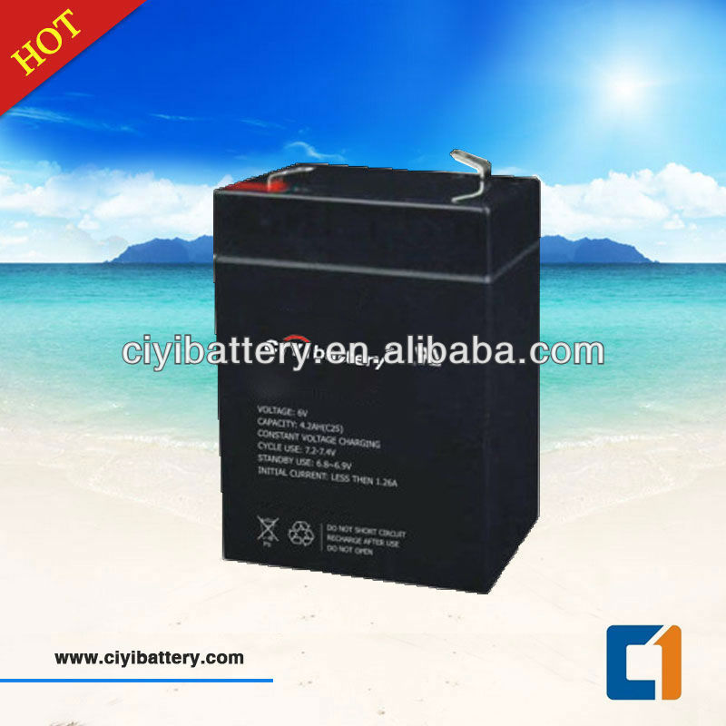 UPS Battery SMF Valve Regulated Lead Acid Battery 6V 4.5AH