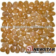 Natural Pebble,Yellow Pebble River Stone,Pebble Tile