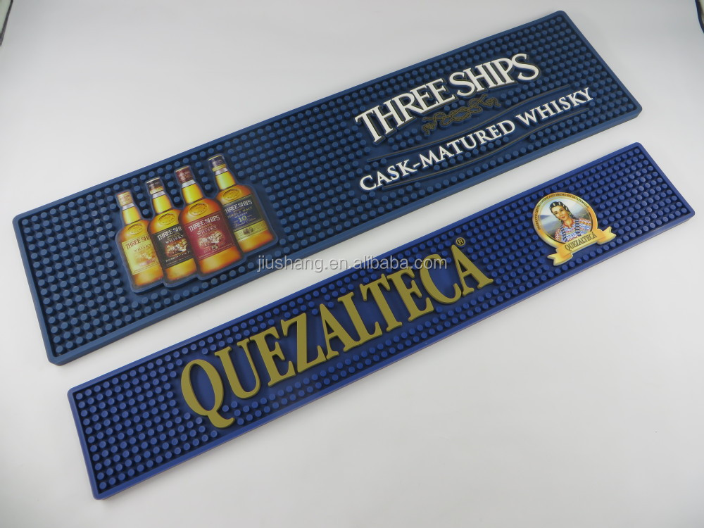 Rectangular green color Bar serving mat with Custom logo and size