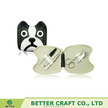 Cute animal dog shape manicure set
