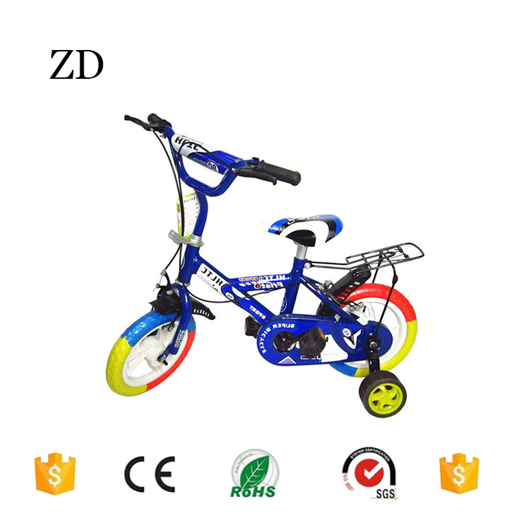 Hebei Zandi factory cheap plastic tire children bicycle 12 14 16 18 20 blue red green popular two seat kids dirt bikes for sale