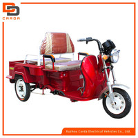 cargo electric tricycle with passenger seat for adults