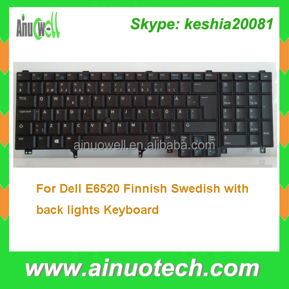 Finnish Laptop Keyboard for Dell E6520 Swedish BACKLIT keyboard E5520 M4600 M6600 E5530 E6530 M4700 M6700