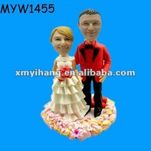 funny bobblehead couples figure customized presents for wedding resin cake topper