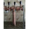 4 tap stainless steel T tower draft keg beer kegerator