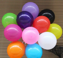Latex balloon round shaped game foil balloon number balloon color assorted