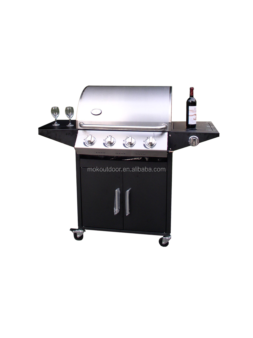 Bbq pro burner gas grill with stainless steel