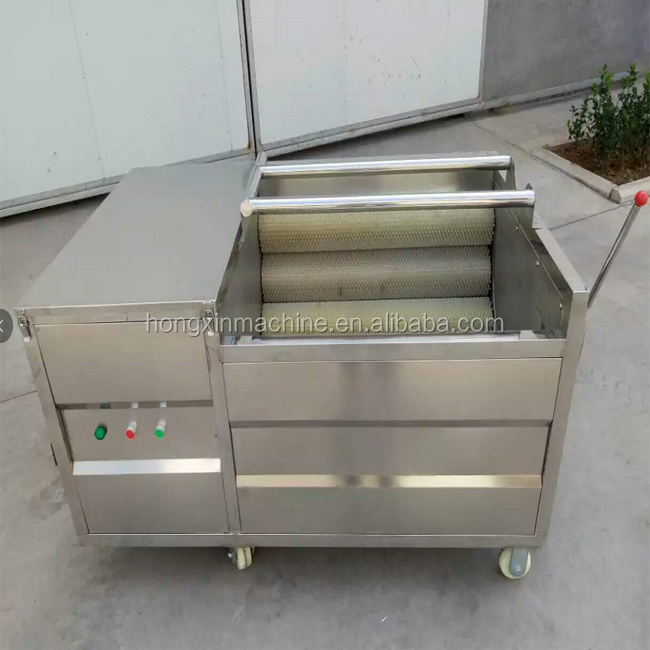 Stainless steel brusher apple washing machine carrot ginger washing machine