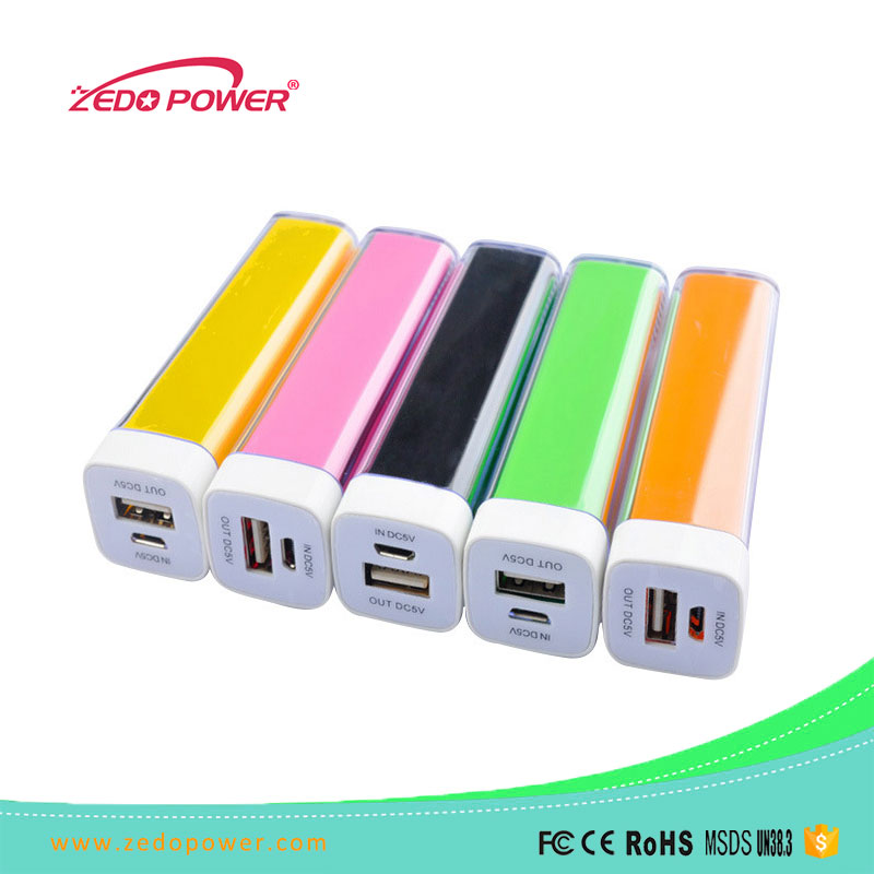 Ultra Slim Lipstick Size External Battery Power Bank with Portable Keychain Mini Quick Charger Power Bank