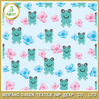 frog print 100% Polyester Printed Fabric for baby cloth