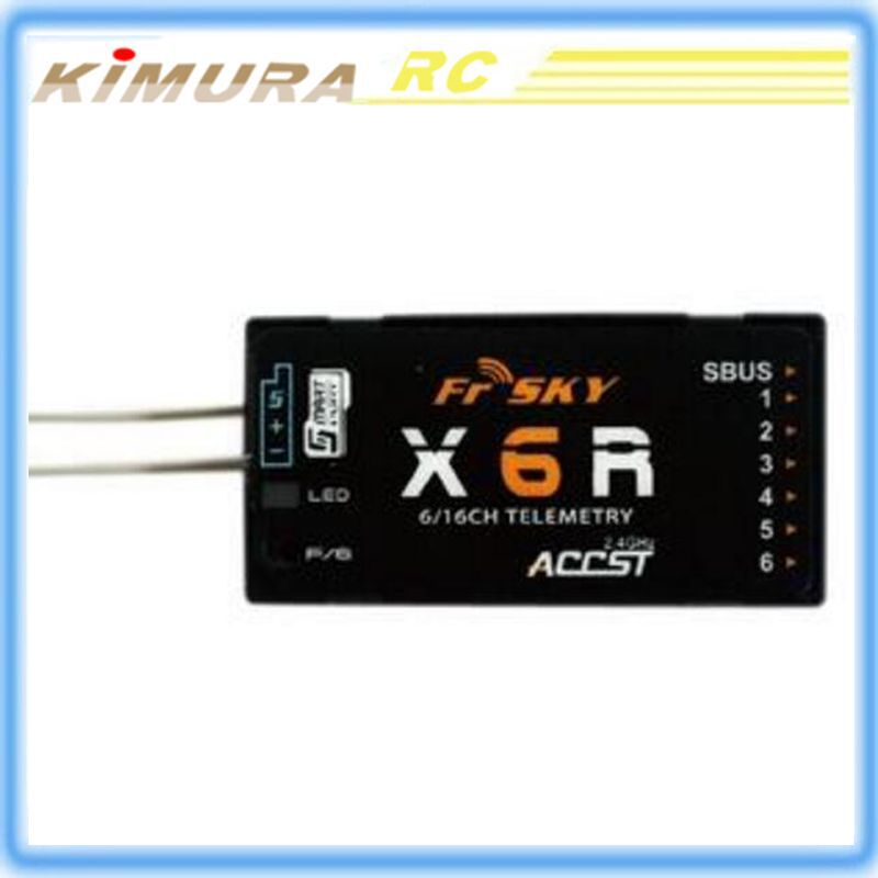 FrSky X6R 6/16Ch S.BUS ACCST Telemetry Receiver W/Smart Port compatible with Taranis X9D/X9DPLUS, X9E. HORUS X12D