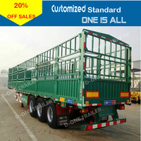 D-one brand cargo trailer 12 tyres stake cargo truck semi trailer