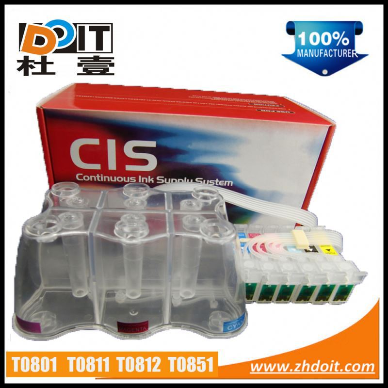 Hot in Asia T0851 continous ink supply system for Epson Stylus Photo R330 with ink