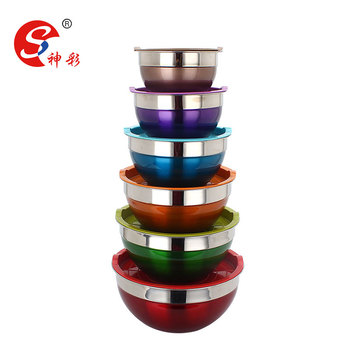 large salad bowl stainless steel mixing bowl set