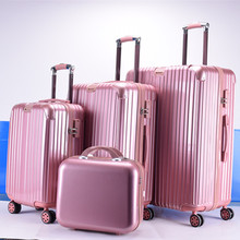 hard shell trolley suitcase high quality 5pcs travel luggage set ABS PC trolley luggage