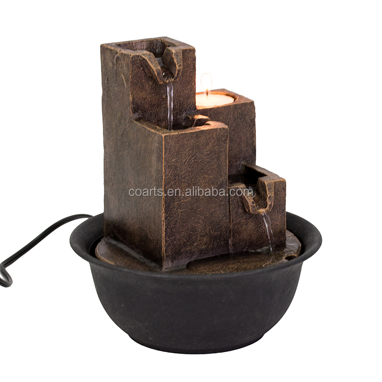 Tabletop small decorative water fountain indoor