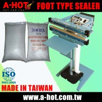 Simple 75CM DOUBLE SIDES FOOT type sealer for plastic bags PP PE materials