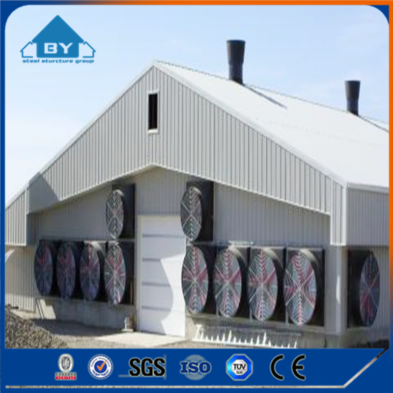 Free Designing Drawing Prefabricated Steel Strcture Chicken House Steel Poultry House