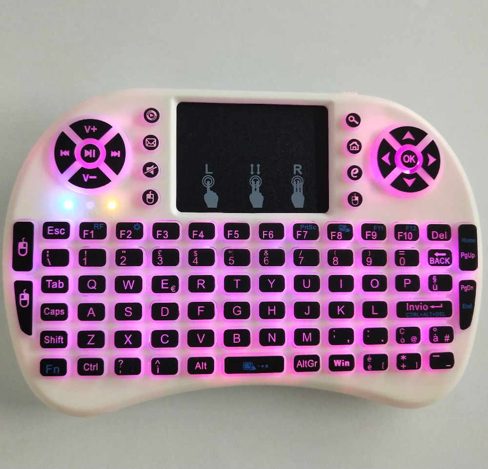 Rainbow Colorful wireless mini i8 Pro keyboard very effective and handy Gaming keyboard