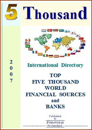 Directory 2007- Top World Financial Sources And Banks