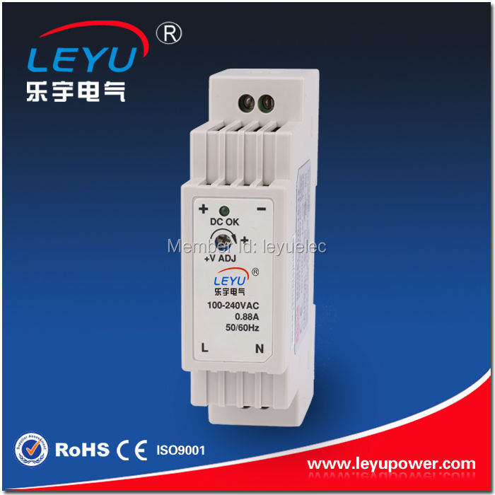 wenzhou Slim figure Plastic enclosure DR-<strong>15</strong>-<strong>12</strong> Full range DIN RAIL Style 12V output good power supply 15w