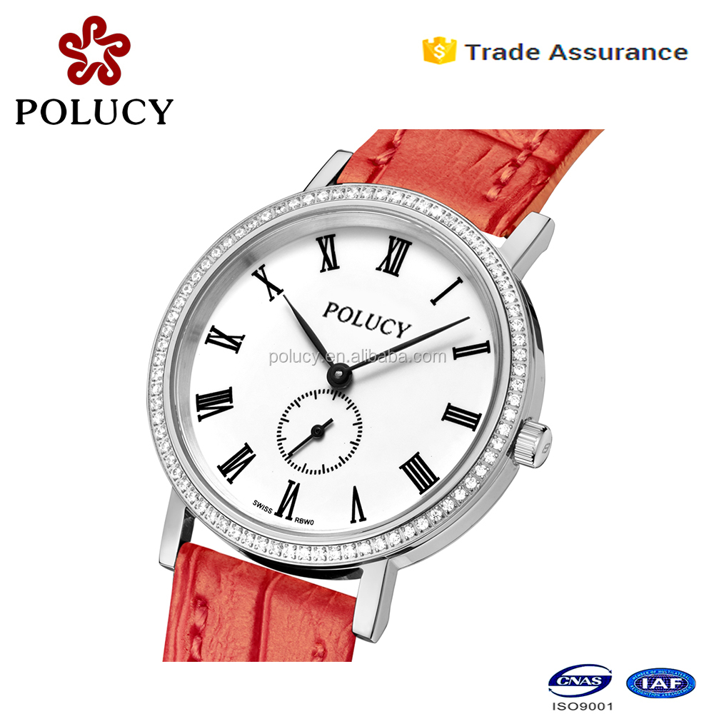 Fancy lady watch stone quartz watch changeable strap