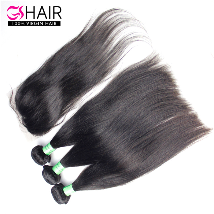 good quality straight malaysian virgin hair bundles with closure
