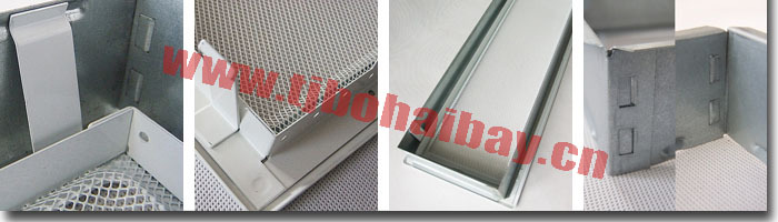 BHB Single iron nets fireplace ventilation grilles