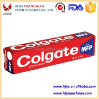 Custom High Quality Paper Toothpaste Packaging Boxes price for Whitening Toothpaste for daily use