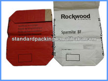 block bottom 25kg brown kraft paper valve bag
