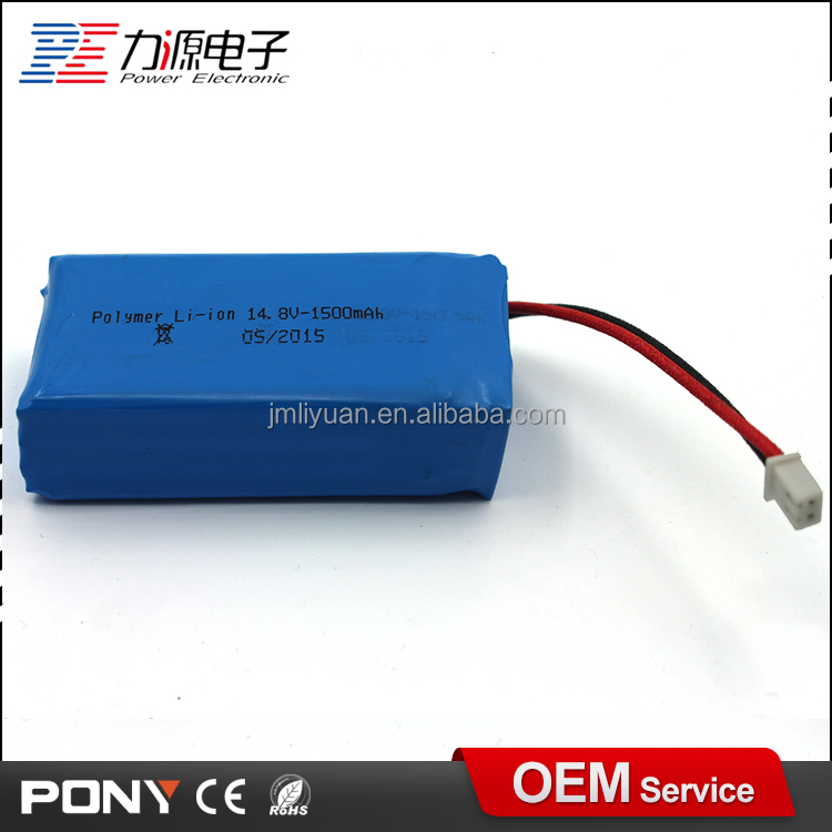 factory wholesale rechargeable 14.8v 1500mah li-ion battery pack