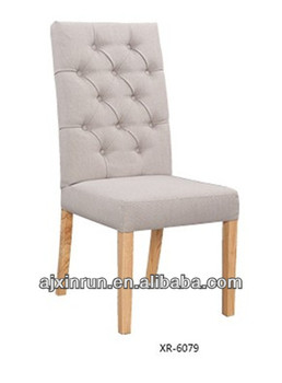 wood dining chair fabric cover high back dining chair