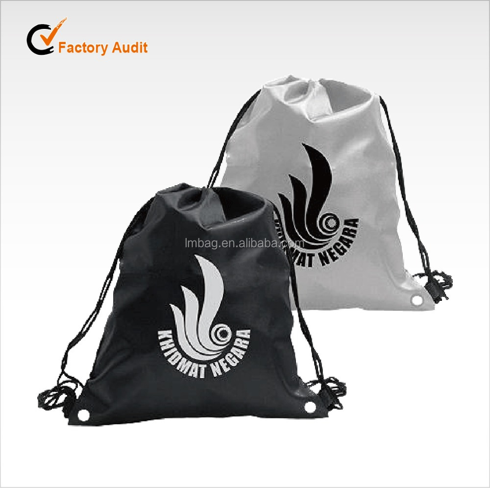 backpack bag cheap recycle polyester 210D drawstring bag