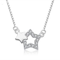 New Style Fashion Silver 925 Hot sale in Alibaba Brilliant Pentagram Pendant for Fascinated Necklace