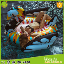 2017 Attractive Colorful Swan Pool Floats Inflatable swan rider environmental PVC water park equipment