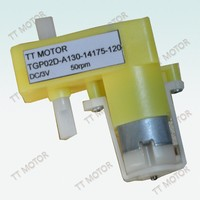 two shaft 3v dc gear motor plastic gear for robot