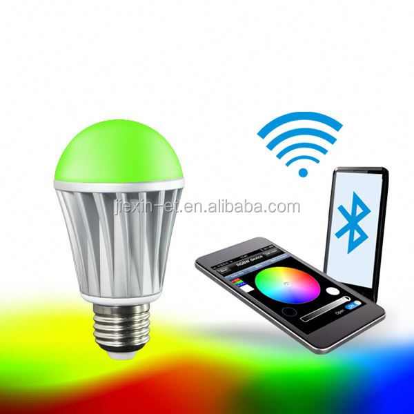 smart home led lighting Iphone control music flash Bluetooth outdoor led motion sensor bulb