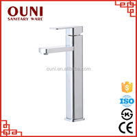 ON-004 Luxury modern sliver polished single handle chrome hot cold water mixer tap