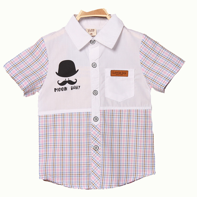 2015 New Baby Boys Shirts Summer Style Kids Polo Shirt Turn Down Collar Kids Boy Cotton Fashion Boy Clothing Outfits